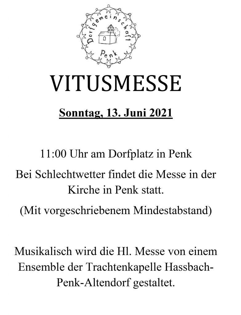 Einladung Vitusmesse
